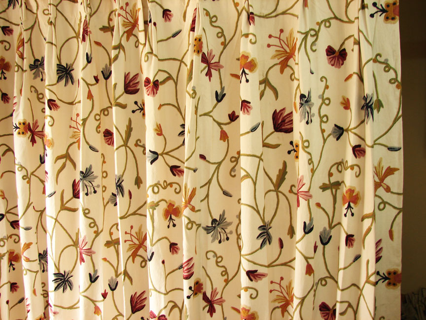 Crewel Fabric from Zia Enterprises - Crewel fabric - Crewel Work ...